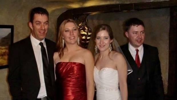 On the left Nick Fredric with his half siblings Juanita Denholm, Yvette Meachen and Logan Meachen.