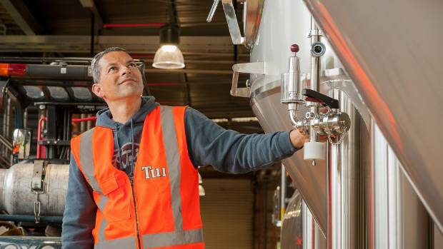 Tui Brewery head brewer Tupu Gregory is excited about the newly built brewery.