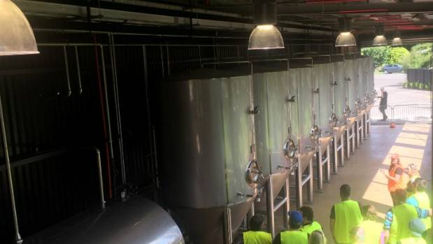The new brewery was built in Germany and imported to New Zealand in seven shipping containers.