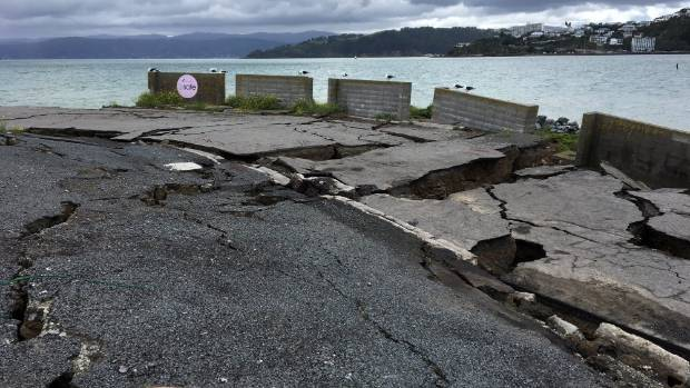 Damage at Wellington's CentrePort after the November 14 earthquake.