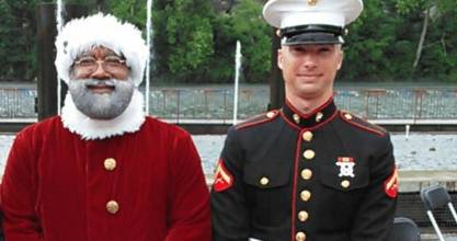 Larry Jefferson, the Mall of America's first black Santa, is a retired US Army veteran.