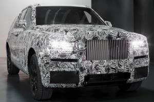 The 2018 Rolls-Royce Cullinan SUV has begun public testing.