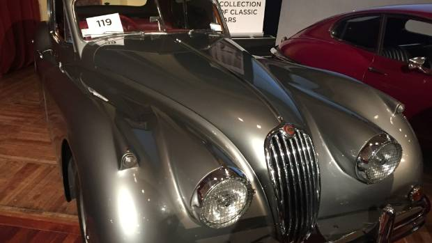 The record-breaking 1955 Jaguar XK 140 Fixed Head Coupe, which fetched $258,750.