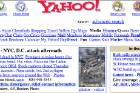 A screenshot of the front page of Yahoo.com from September, 2001.