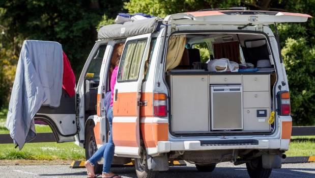 Freedom campers in Marlborough.