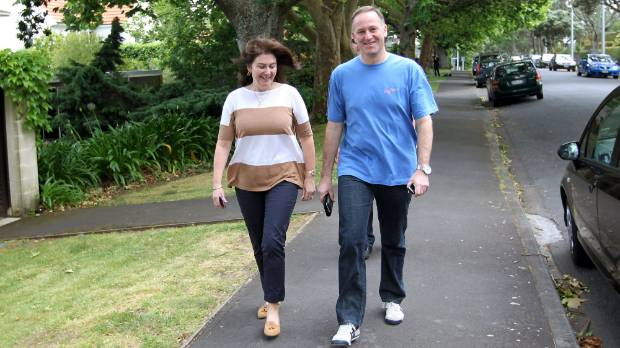 Prime Minister John Key and wife Bronagh talk a walk and have a coffee the morning after the 2011 election.