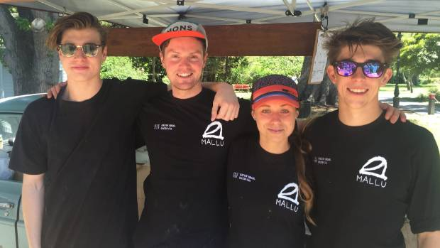 Bacon Bros team: Jacob Morris, Troy Bilbrough, Chloe Parks and Ellis Lawrence.