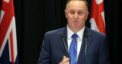 Prime Minister of New Zealand John Key announces his resignation.