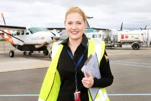 Sounds Air ground operations manager Sophie Macdonald at Marlborough Airport.