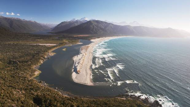 Stunning Martins Bay, Fiordland. From here, the sandflies aren't visible.
