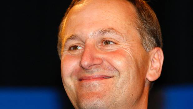 John Key smiles after winning the general election in Auckland  November 8, 2008.