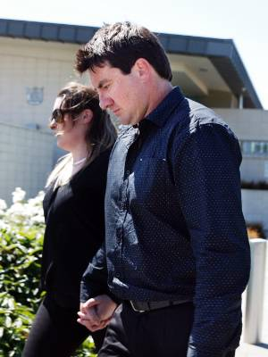 Aquanorts owner-operator Ricky John Hartnett leaves the Timaru District Court after being sentenced on Monday.