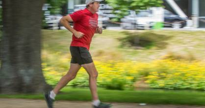 """Christchurch man Tony Sharpe is """"tapering"""" his runs as he heads toward 135km in one day, around the Christchurch 360 ..."""