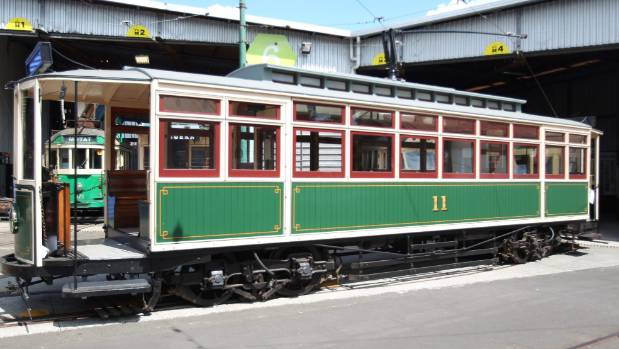 A tram at Motat very similar to the one that had its brakes fail in the Kingsland tragedy.