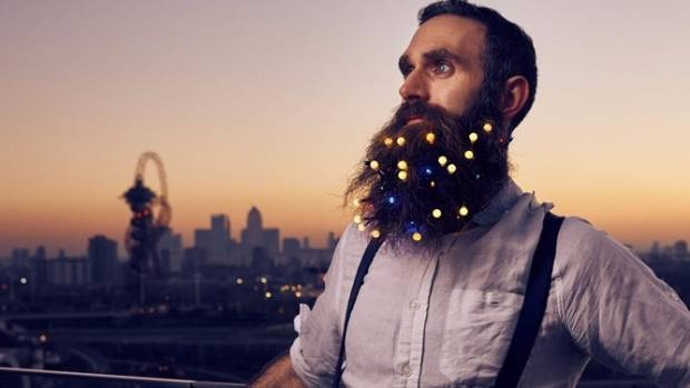 you can wear christmas lights in your beard if you want. Black Bedroom Furniture Sets. Home Design Ideas
