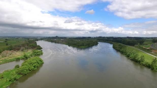 The Waikato River at Rangiriri, where the Tainui Development Authority is doing restoration work.