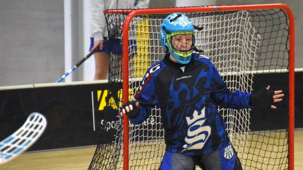 Rachel Bertschinger, 14, has been involved in floorball for several years and has just been selected in the NZ women's side.
