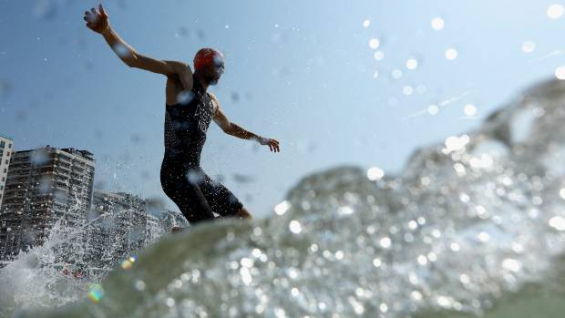 Triathlete Tony Dodds, pictured in action during the Olympic Games, snapped Hayden Squance's unbeaten start to the Port ...