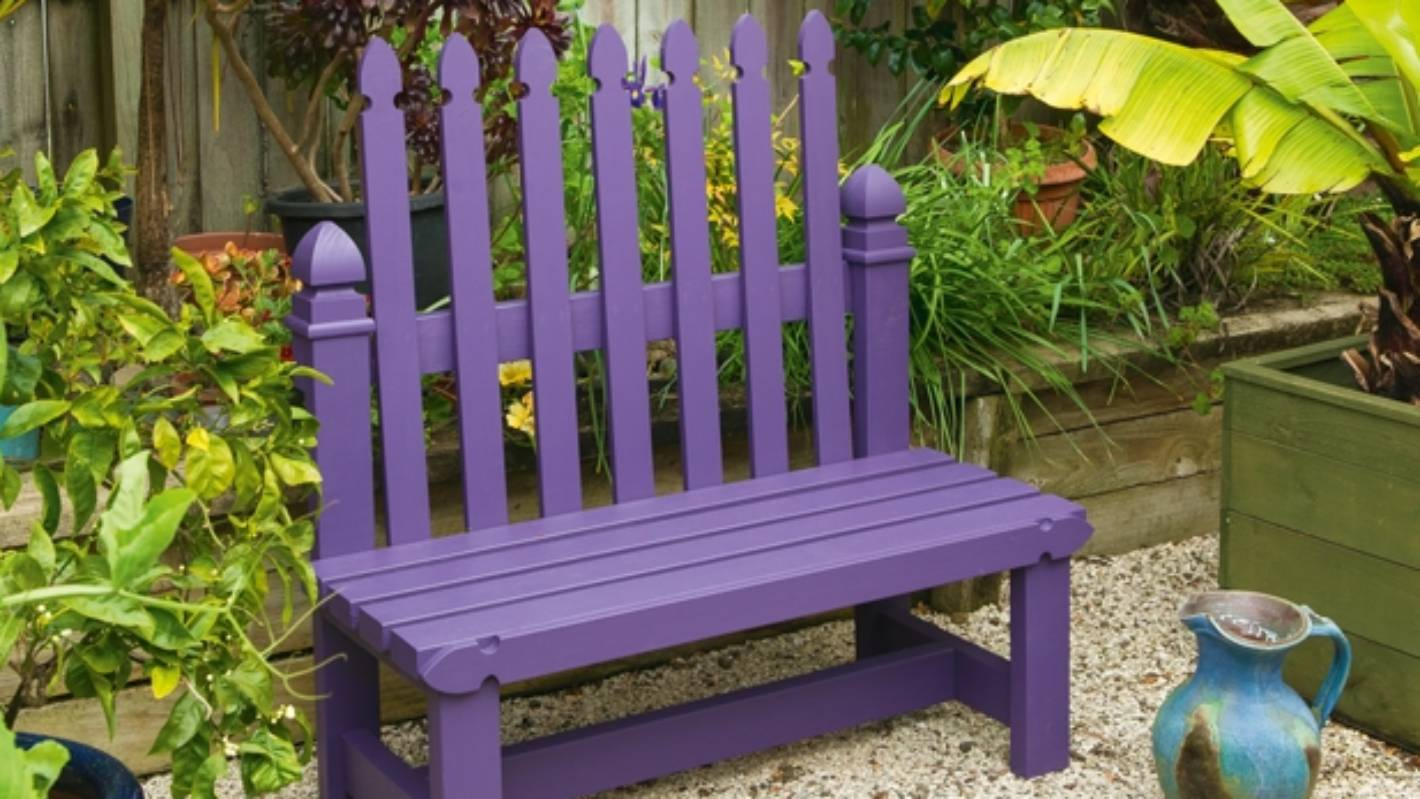 Make It This Weekend Diy Picket Fence Garden Seat Stuff