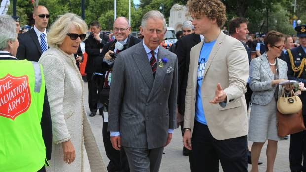 Sam Johnson, pictured with Prince Charles and his wife the Duchess of Cornwall, is trying to combat social isolation ...