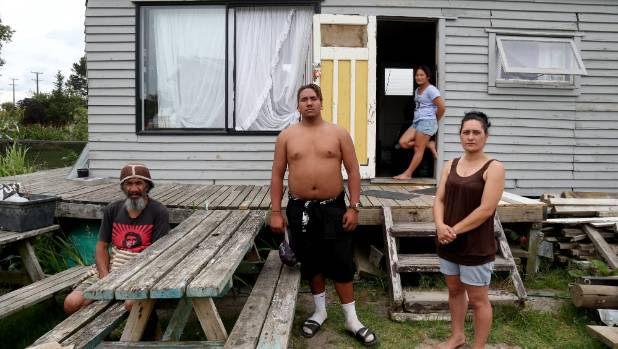 Helensville resident Coralee Gray, right, with her whanau (from left) Koro, Bob Anderson and Georgia.