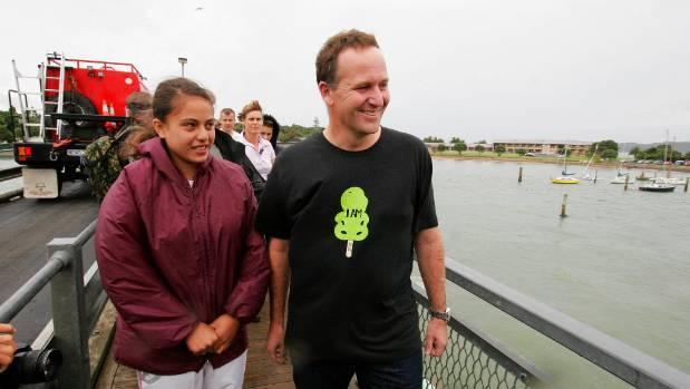 John Key takes Aroha Ireland of McGehan Close to Waitangi in February 2007