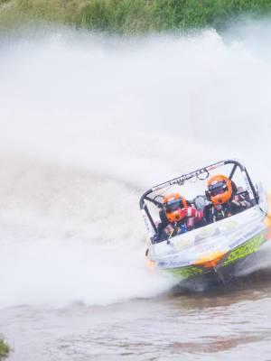 101216 News Photo. SIMON O'CONNOR/Fairfax NZ Round 1 of the NZ Jetsprint Champs in Taranaki. Leighton and Luke Minnell
