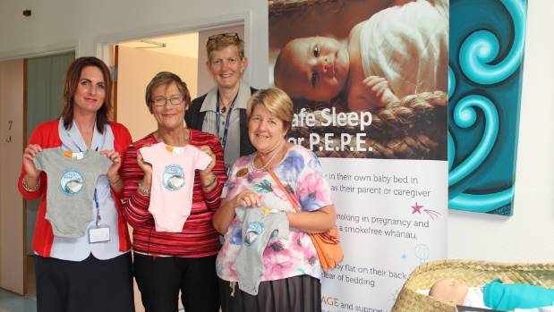 Staff members at Botany Downs Primary Birthing Unit: ward clerk Denise Rayner, team midwife Sue Cochran, charge midwife ...