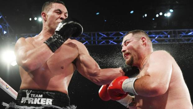 New Zealand heavyweight boxer Joseph Parker lands a heavy blow to Andy Ruiz on his way to winning the WBO world ...