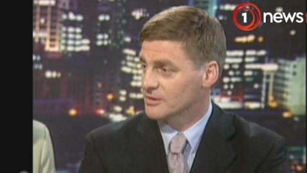 A fresh-faced Bill English speaks to Paul Holmes after becoming National leader, first time round, in 2001.