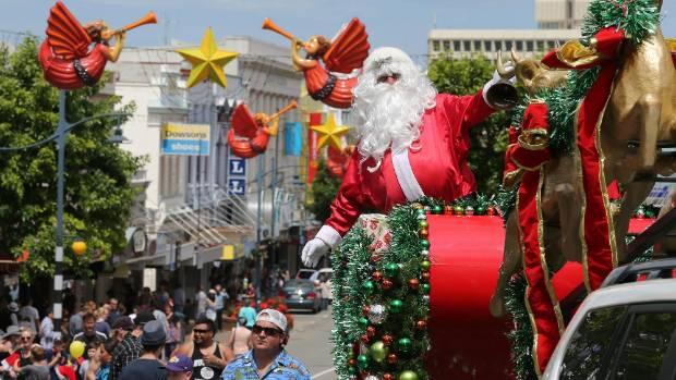 Santa Claus delights the crowds at the 2016 Prime Port Christmas Parade.