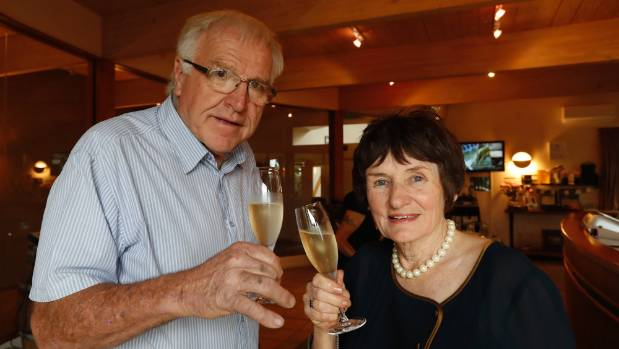 Hermann and Agnes Seifried toast their 40th vintage by launching their Methode Tradionelle sparkling wine, Aotea at a ...