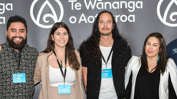 (L-R) Jerry Daniels, Geneveine Wilson, Steven Heke and Jade Chase at the conference at Te Wananga o Aotearoa.