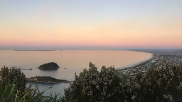 A sunset from the summit of Mount Maunganui.