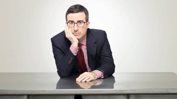Broadcaster John Oliver enjoyed the clownish antics of John Key and Steven Joyce in 2016.