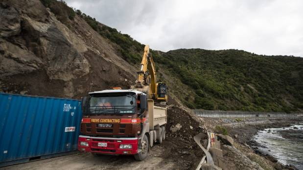State Highway 1 South of Kaikoura is going to be open well in time for Christmas with workers clearing the final slip ...