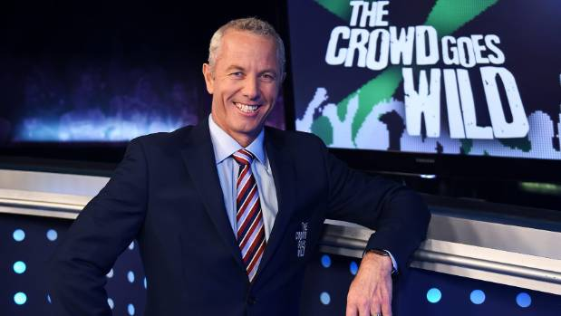 Mark Richardson in his old role as a presenter on The Crowd Goes Wild. He used to say outrageous crap all the time on ...