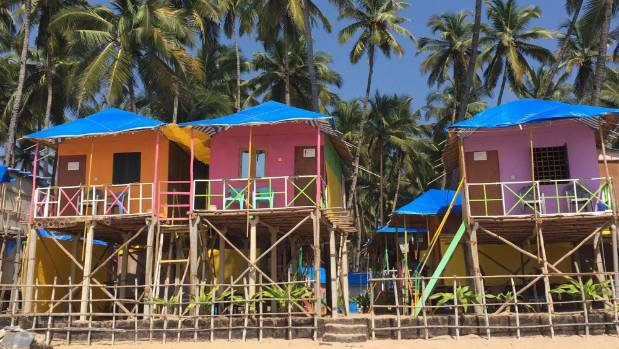 Beach houses at Palolem, one of Goa's best beaches.