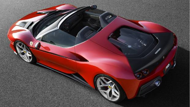 The Ferrari J50 is based on the 488 Spider.