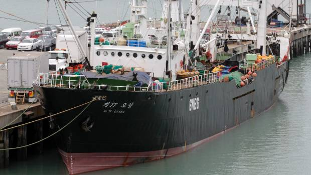 This year Korean fishing boat Oyang 77, which operated in New Zealand waters, had eight charges of illegally dumping ...