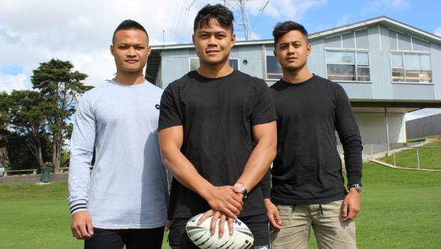 John Nicodemus, left, with brothers Jericho and Josh, is excited about the prospect of running out with his brothers for ...
