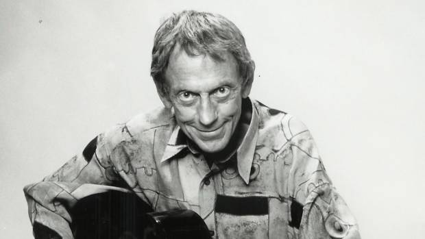 Bug-eyed bohemian: Graeme Allwright adopted a barefoot on-stage singing style early in his career.