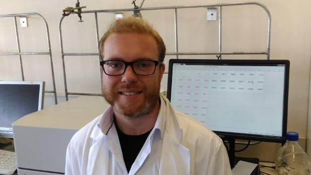 Scientist Sean Mackay, from Paraparaumu, working on nanotechnology to treat strawberry birthmarks.