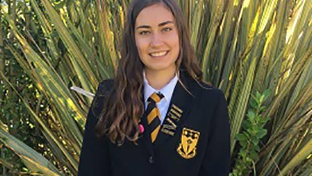 13122016. News. Photo supplied. Motueka High School head perfect Hinemoana Markham-Nicklin has won a $5000 Te Waiu O ...