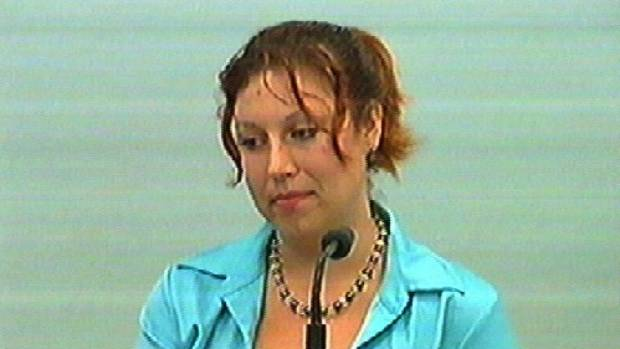 Simonne Butler in court during the Antonie Dixon trial.