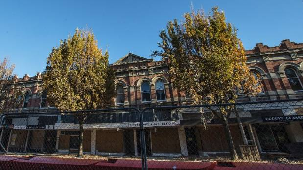 Trees outside Duncan's Building on High St, central Christchurch, will be removed, then replaced with young trees once ...