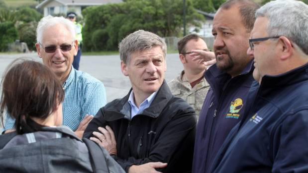 Prime Minister Bill English' visit to Kaikoura has been met with frustrated and angry locals.