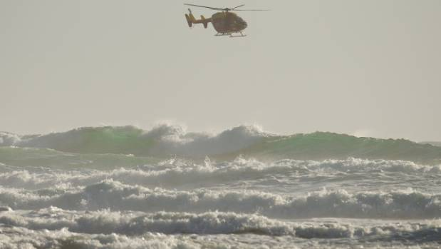 Image result for Search for missing swimmer in Auckland. Waikato