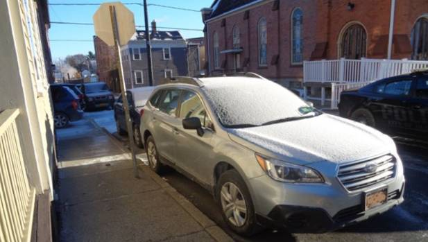 Police found the car covered in frost and thought the mannequin inside was a real, frozen woman.