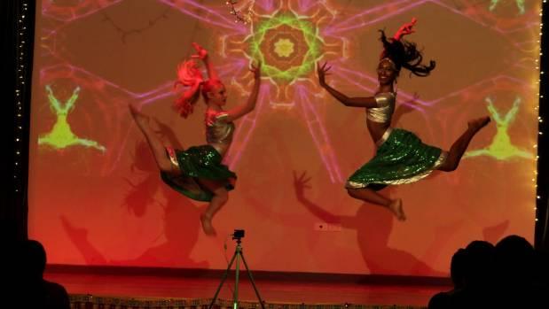 Westport's Bollywood dance group founder Jayshri Ratnam, 15, right.